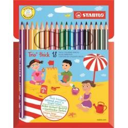 Farebné ceruzky Trio thick,...