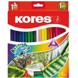 Akvarelové ceruzky, 24...