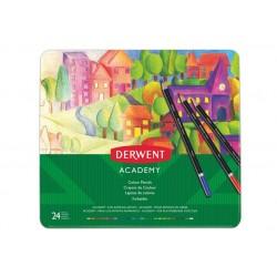 Farebné ceruzky v plechovej...